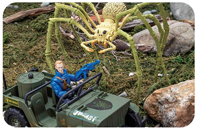 Battle for Survival: Creature Contact Set - Spider with Jeep and Figure
