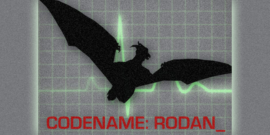 "Rodan, Mothra and Ghidorah in ""Godzilla 2"""