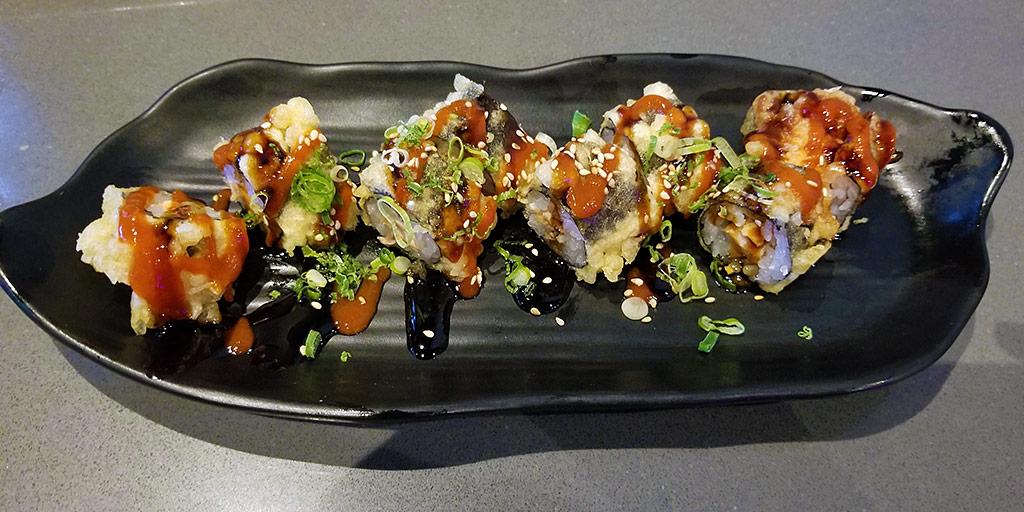 Godzilla Roll at Sakesan Sushi & Bistro