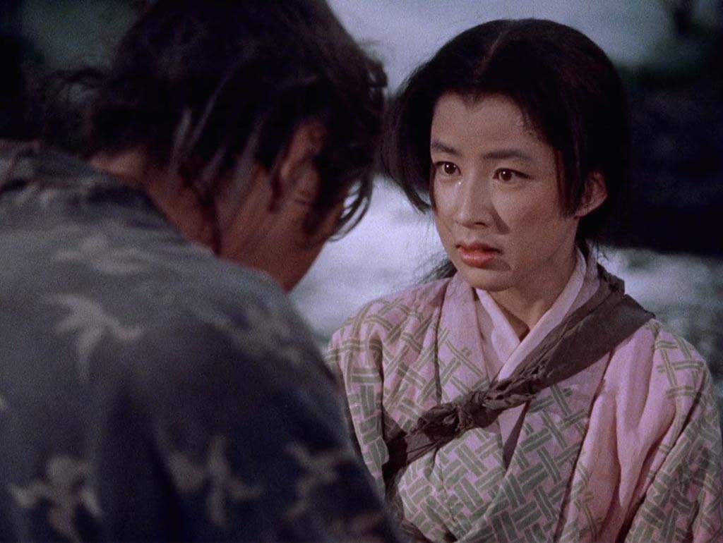 Toshiro Mifune and Kaoru Yachigusa in Samurai I