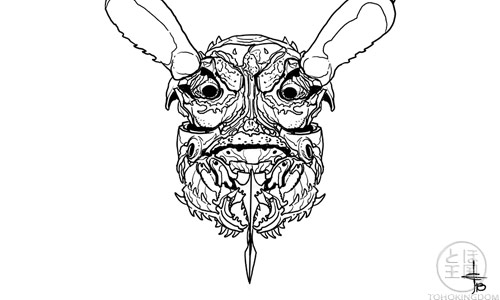 D Beetle Head Design A