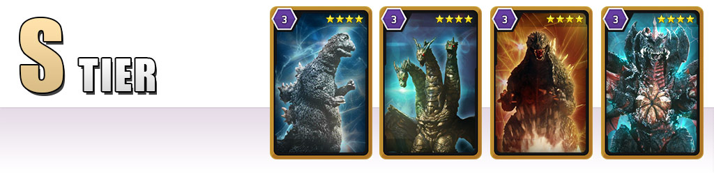 S Tier: Godzilla '67, Keizer Ghidorah, Godzilla '03, Destoroyah Perfect Form