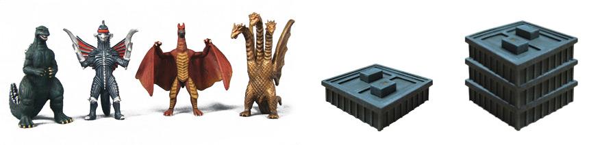 Godzilla: Kaiju World Wars figures