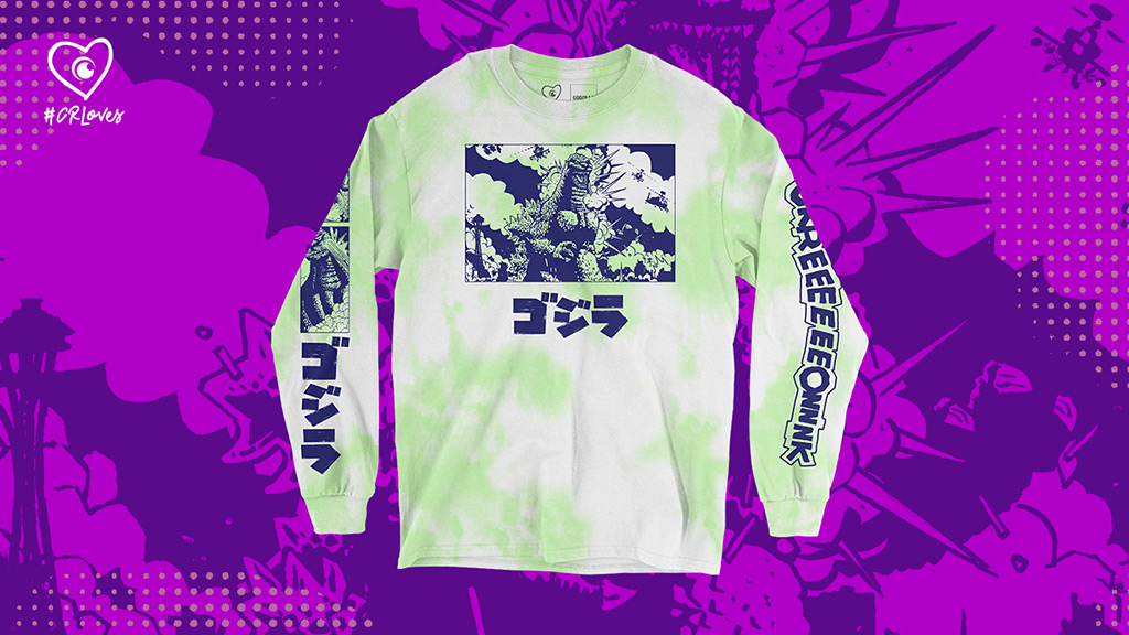 Godzilla Streetwear Collection: GodzillaComic and Kanji Long Sleeve T