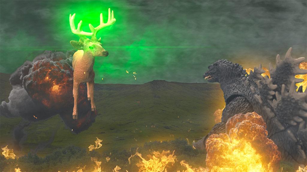 Carnage: Godzilla vs. Bambi