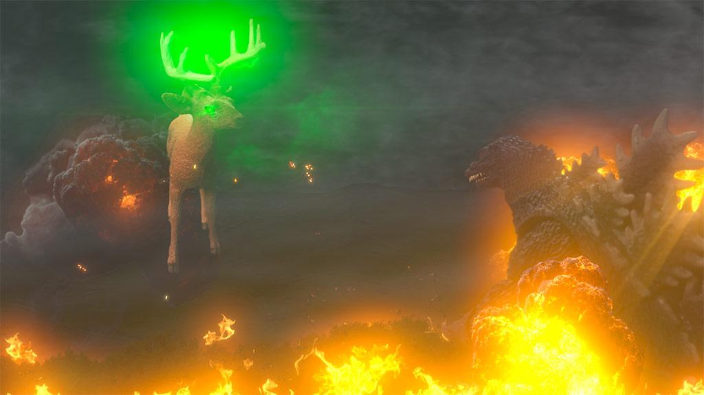Explosion: Godzilla vs. Bambi