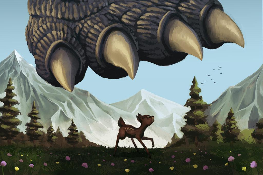 Godzilla vs. Bambi 2020 Poster