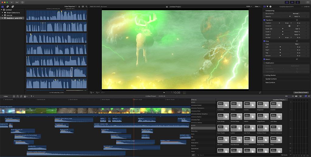 Sound Design for Godzilla vs. Bambi