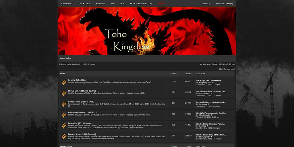 Old Toho Kingdom Forums Styles: Circa 2016-2017