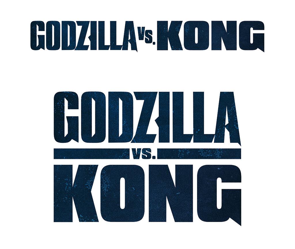 Godzilla vs. Kong: blue logo