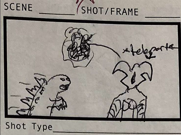 Storyboards for Godzilla, Zetton and Gamera