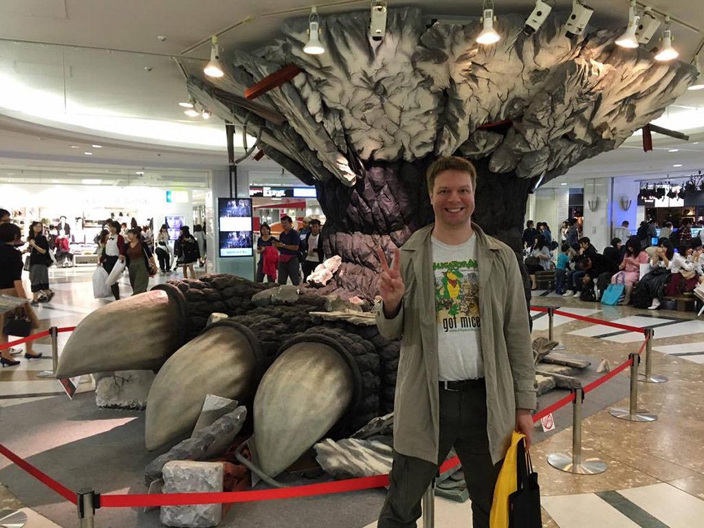Godzilla Foot in the Mall