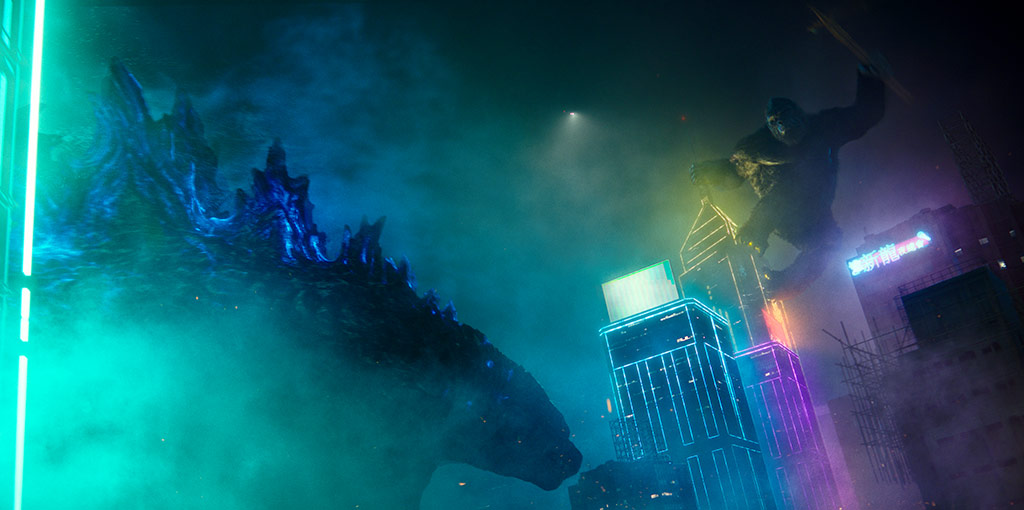 """(L-r) GODZILLA and KONG in Warner Bros. Pictures' and Legendary Pictures' action adventure """"GODZILLA VS. KONG,"""" a Warner Bros. Pictures and Legendary Pictures release."""