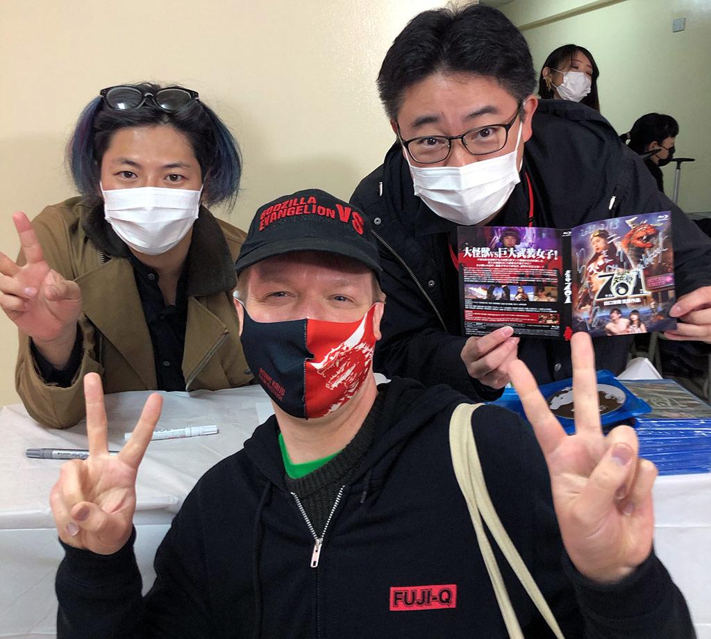 Posing with Jugglus Juggler and Kiyotaka Taguchi