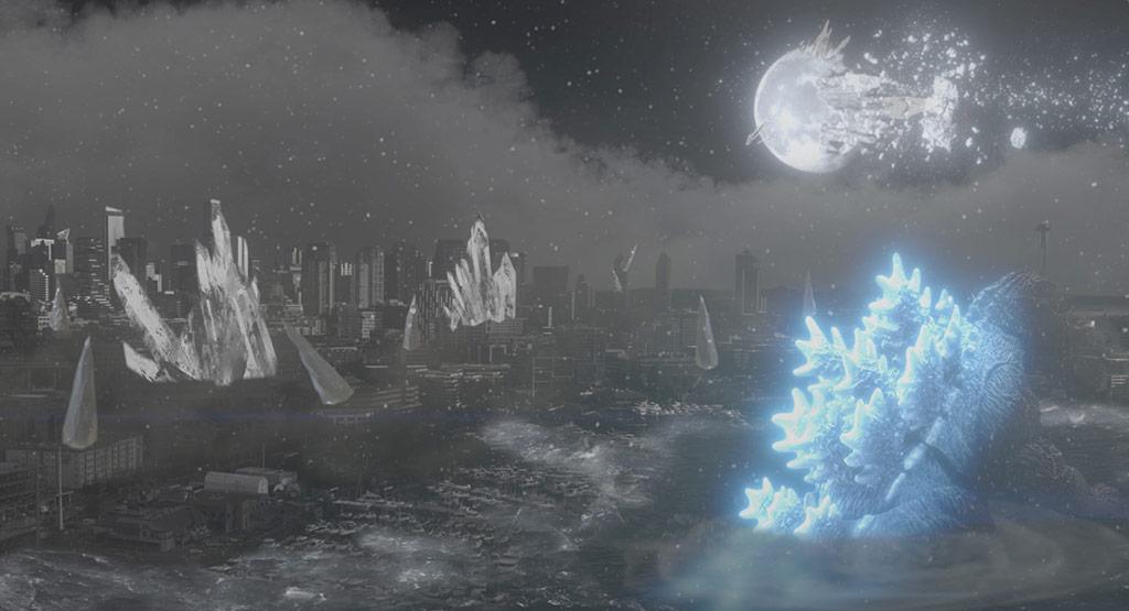 Godzilla in Desolate Seattle