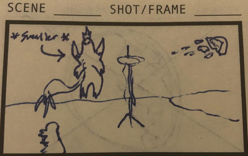 SpaceGodzilla the Overlord Storyboard
