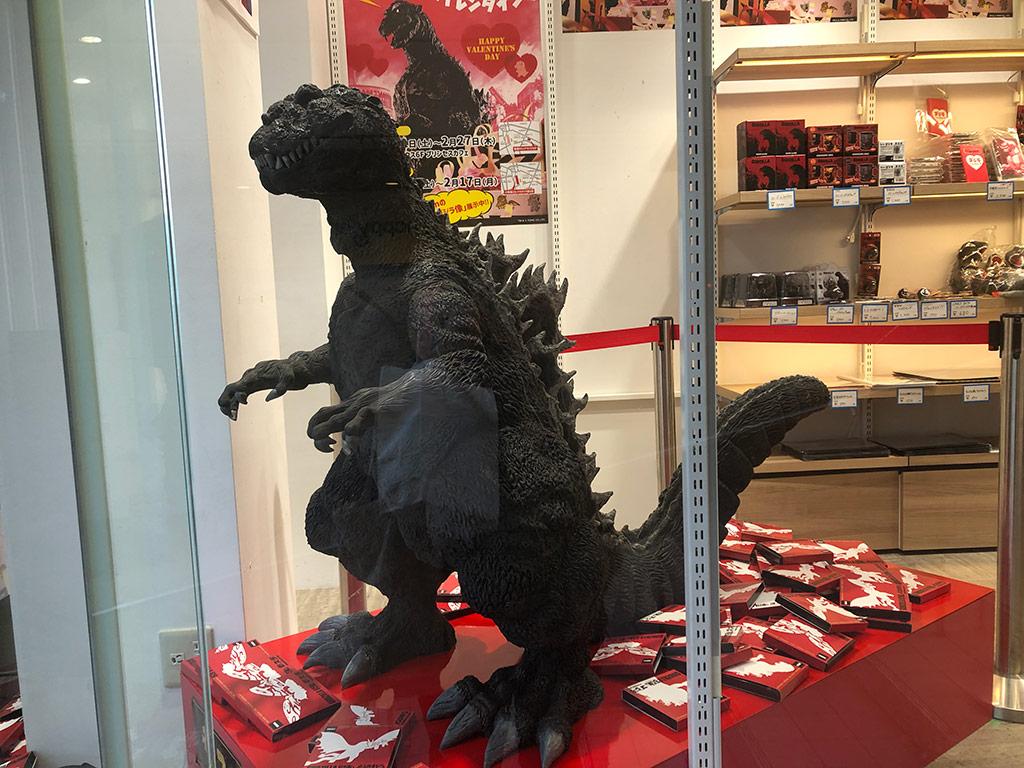 Chocolate Godzilla Statue