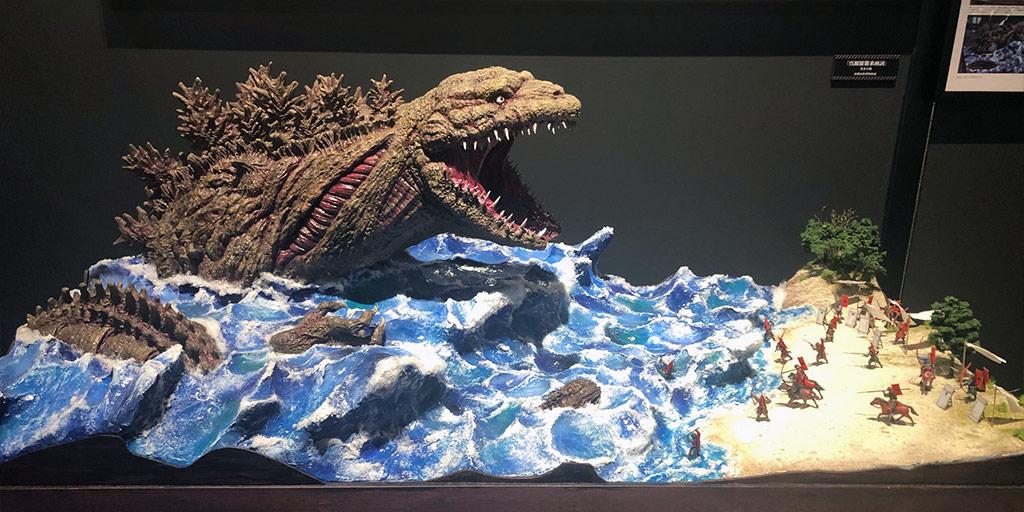 Godzilla attacking Awaji in the Meiji era