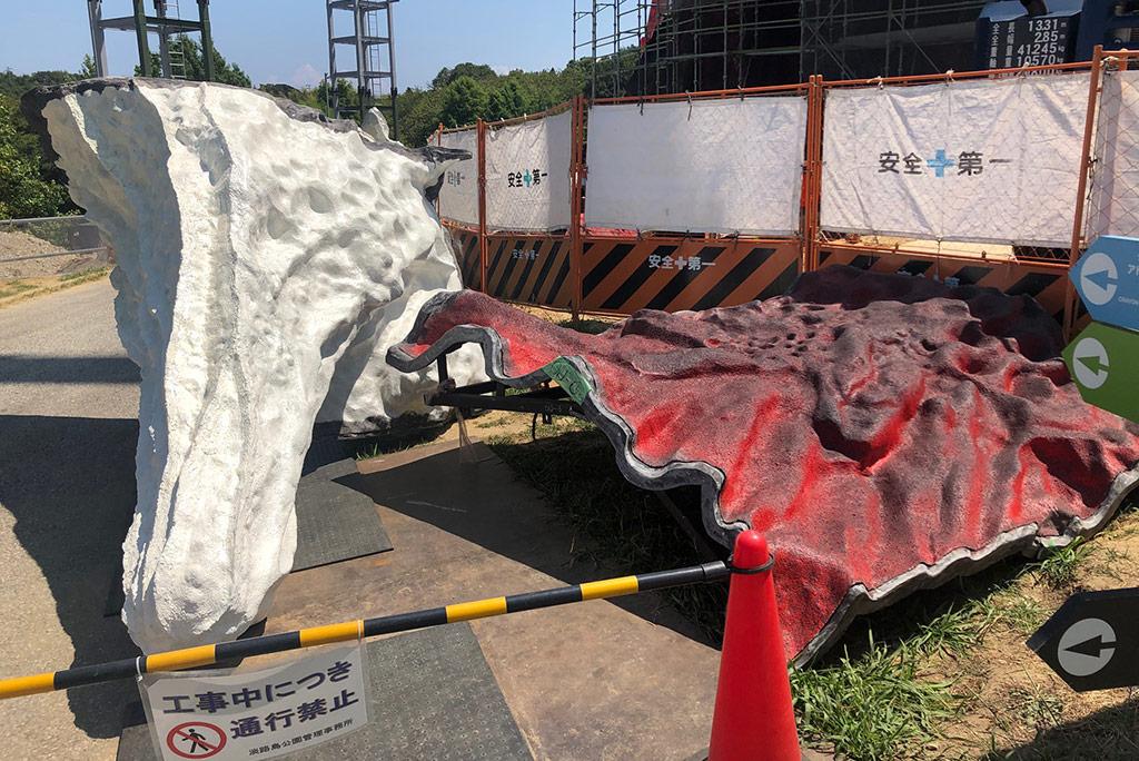 Nijigen no Mori Godzilla: NIGOD Construction